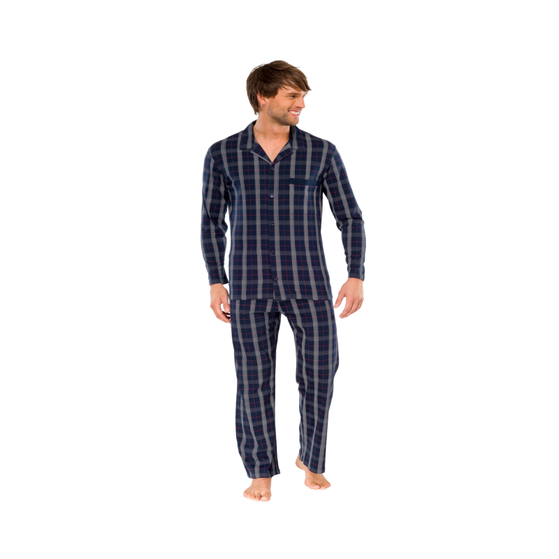 schiesser herren pyjama schlafanzug lang 144135 59 95. Black Bedroom Furniture Sets. Home Design Ideas